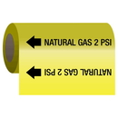 Seton 62190 Gas Self-Adhesive Pipe Markers-On-A-Roll - Natural Gas 2 psi