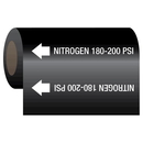 Seton 62191 Gas Self-Adhesive Pipe Markers-On-A-Roll - Nitrogen 180-200 psi