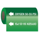 Seton 62193 Gas Self-Adhesive Pipe Markers-On-A-Roll - Oxygen 50-55 psi