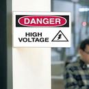 Seton 62712 3-Way View Safety Signs - Danger - High Voltage