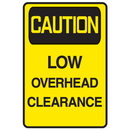 Seton 62730 Caution Low Overhead Clearance Warehouse Traffic Signs