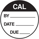 Seton 62733 CAL By Date Due Round Calibration Labels On A Roll
