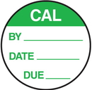 Seton 62734 CAL By Date Due Round Calibration Labels On A Roll