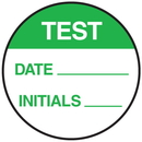 Seton 62737 Test Date Initials Round Labels On A Roll