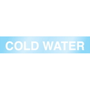 Poly 63193 Poly-Code Clear Self-Adhesive Pipe Markers - Cold Water