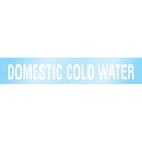 Poly 63208 Poly-Code Clear Self-Adhesive Pipe Markers - Domestic Cold Water