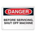 Seton 64698 Equipment Hazard Mini Safety Signs - Danger Before Servicing Shut Off Machine