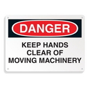 Seton 64701 Equipment Hazard Mini Safety Signs - Danger Keep Hands Clear of Moving Machinery