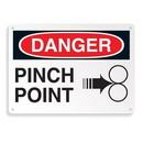 Seton 64702 Equipment Hazard Mini Safety Signs - Danger Pinch Point