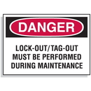 Seton 65409 Lockout Hazard Warning Labels- Danger Lock-Out/Tag-Out Must Be Performed
