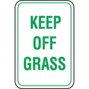 Seton 65921 Recycled Plastic Parking Signs - Keep Off Grass