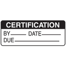 Seton 66368 Certification By Date Due Write On Labels On A Roll