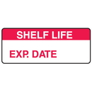 Seton 66372 Shelf Life Exp. Date Write On Labels On A Roll