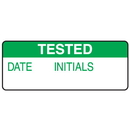 Seton 66374 Tested Date Initials Write On Labels On A Roll