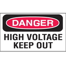 Seton 66556 Safety Labels On A Roll - Danger High Voltage Keep Out