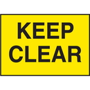 Seton 66882 Facility Signs For Rough Surfaces - Keep Clear