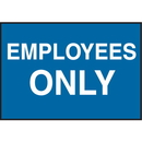 Seton 66883 Facility Signs For Rough Surfaces - Employees Only