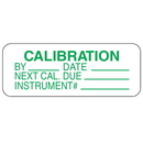 Seton 67342 Calibration By Date Instrument #  Labels For Greasy Surfaces