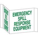 Seton 68218 3-Way View Spill Control Signs - Emergency Spill Response Equipment