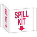 Seton 68221 3-Way View Spill Control Signs -Spill Kit