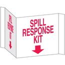 Seton 68223 3-Way View Spill Control Signs - Spill Response Kit
