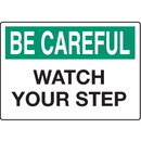 Seton 68266 Slipping & Tripping Signs - Be Careful Watch Your Step