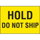 Seton 68874 Hold Do Not Ship Color Coded QC Labels