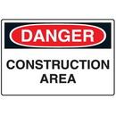 Seton 68959 Disposable Plastic Corrugated Signs - Danger Construction Area