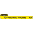 Seton 68985 Color-Coded QC Shipping Tape - Non-Conforming