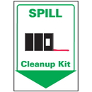 Seton 69249 Spill Clean Up Kit Safety Equipment Location Marker