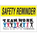 Seton 69340 Safety Reminder Signs - Teamwork