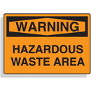 Seton Warning Hazardous Waste Area First Aid Safety Signs