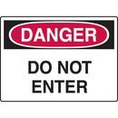 Seton Construction Safety Signs - Danger Do Not Enter