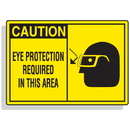 Seton 70650 Safety Alert Signs - Caution - Eye Protection Required