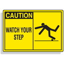 Seton 70654 Safety Alert Signs - Caution - Watch Your Step