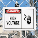 Seton 70660 Safety Alert Signs - Danger - High Voltage