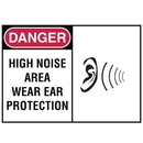 Seton 70663 Safety Alert Signs - Danger - High Noise Area Where Ear Protection