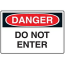 Seton 72160 Disposable Plastic Corrugated Signs - Danger Do Not Enter