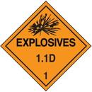 Seton 1.1D DOT Explosive Placards