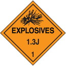 Seton 1.3J DOT Explosive Placards