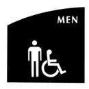 Seton 7254B Evolution Restroom Signs