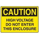 Seton 73215 OSHA Caution Signs - High Voltage Do Not Enter This Enclosure