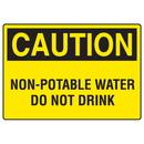 Seton 73224 OSHA Caution Signs - Non-Potable Water Do Not Drink