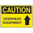 Seton 73227 OSHA Caution Signs - Overhead Equipment