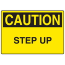 Seton 73254 OSHA Caution Signs - Step Up