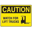 Seton 73263 OSHA Caution Signs - Watch For Lift Trucks