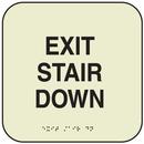 Seton 7330B SetonGlo Signs - Exit Stair Down