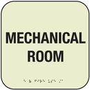 Seton 7346B SetonGlo Front Office Fire Signs - Mechanical Room Sign