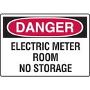 Seton 73569 Danger Signs - Electric Meter Room No Storage