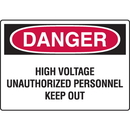 Seton 73653 Danger Signs - High Voltage Unauthorized Personnel Keep Out